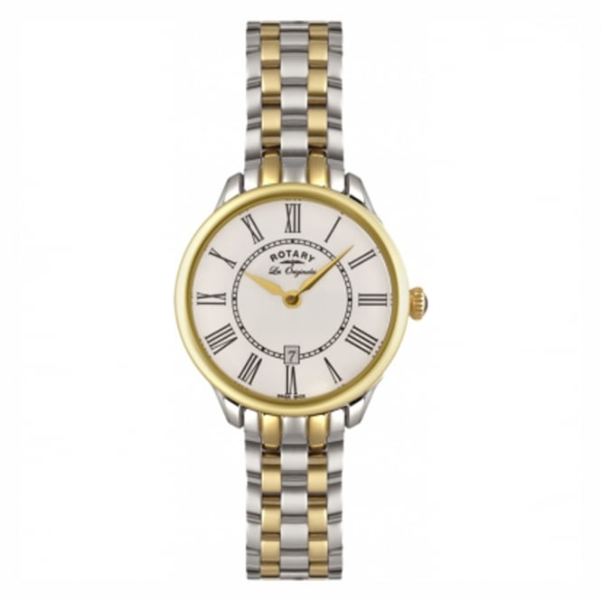 Rotary LB02916/06 Ladies Stainless Steel & Gold Watch