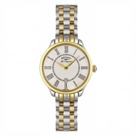 LB02916/06 Ladies Stainless Steel & Gold Watch