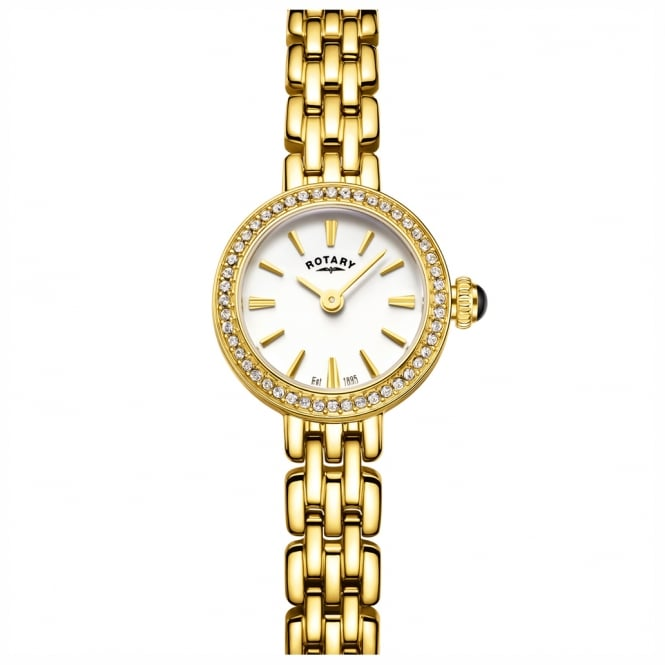 Rotary LB05053/02 Ladies Cocktail Gold Plated Watch