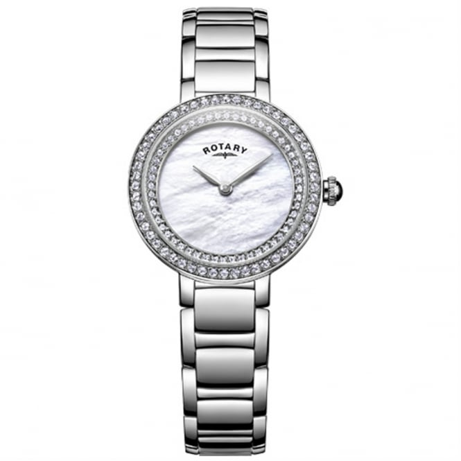 Rotary LB05085/41L Ladies Silver Cocktail Watch