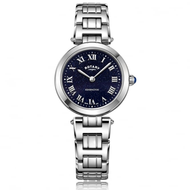 Rotary LB05190/67 Kensington Midnight Sky Blue & Silver Stainless Ladies Watch