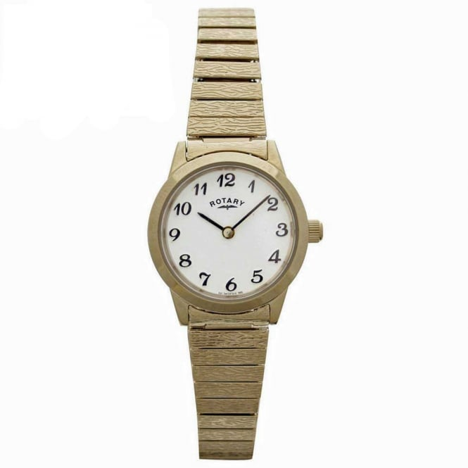 Rotary LBI00762 Ladies Expandable Bracelet Gold Watch