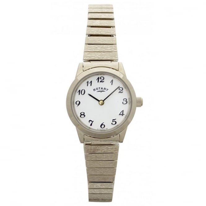 Rotary LBI0761 Classic Ladies Silver Expandable Bracelet Watch