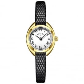 LS05015/11 Ladies Petite Black Leather Watch