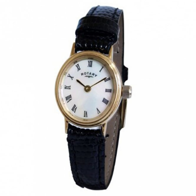 Rotary LSI00471/07 Ladies Black Leather Watch