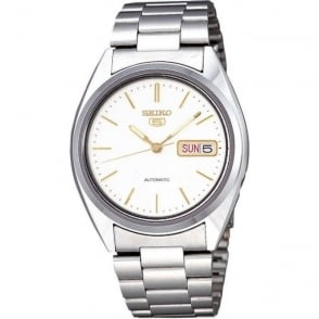 Seiko 5 SNXG47K1 Men's Silver Automatic Watch