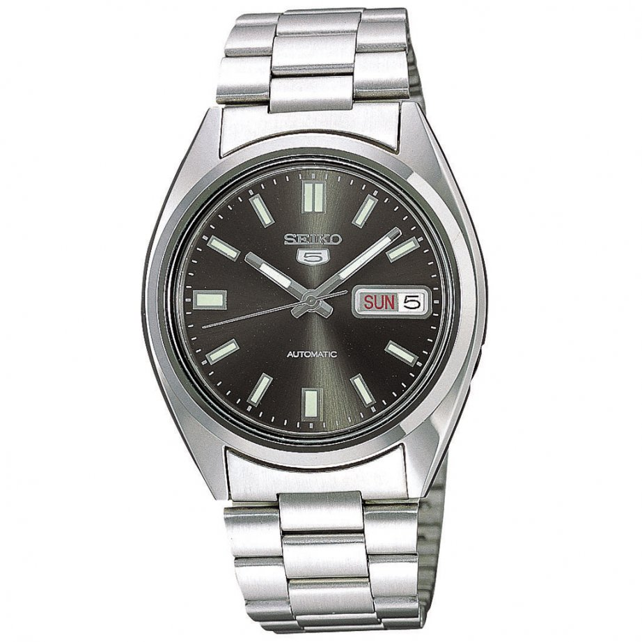seiko 5 watches snxs79k1 s black silver automatic