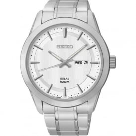 Seiko SNE359P1 Solar Powered Stainless Steel Watch