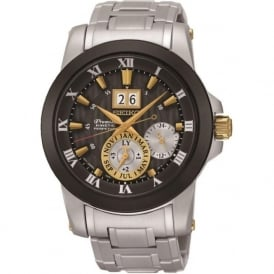 Seiko SNP129P1 Premier Novak Djokovic Special Edition Silver Black & Gold Watch