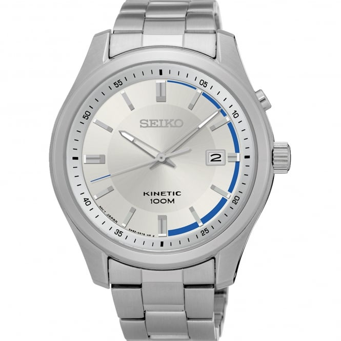 Seiko SKA717P1 Silver Stainless Steel Kinetic Men's Watch