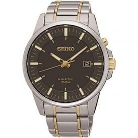 Seiko SKA735P1 Grey & Stainless Steel Men's Kinetic Watch