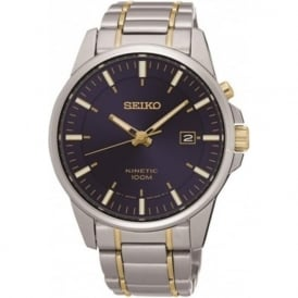 Seiko SKA737P1 Blue & Stainless Steel Men's Kinetic Watch