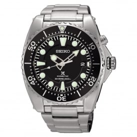 SKA761P1 Prospex Black & Silver Stainless Steel Kinetic Diver's Men's Watch
