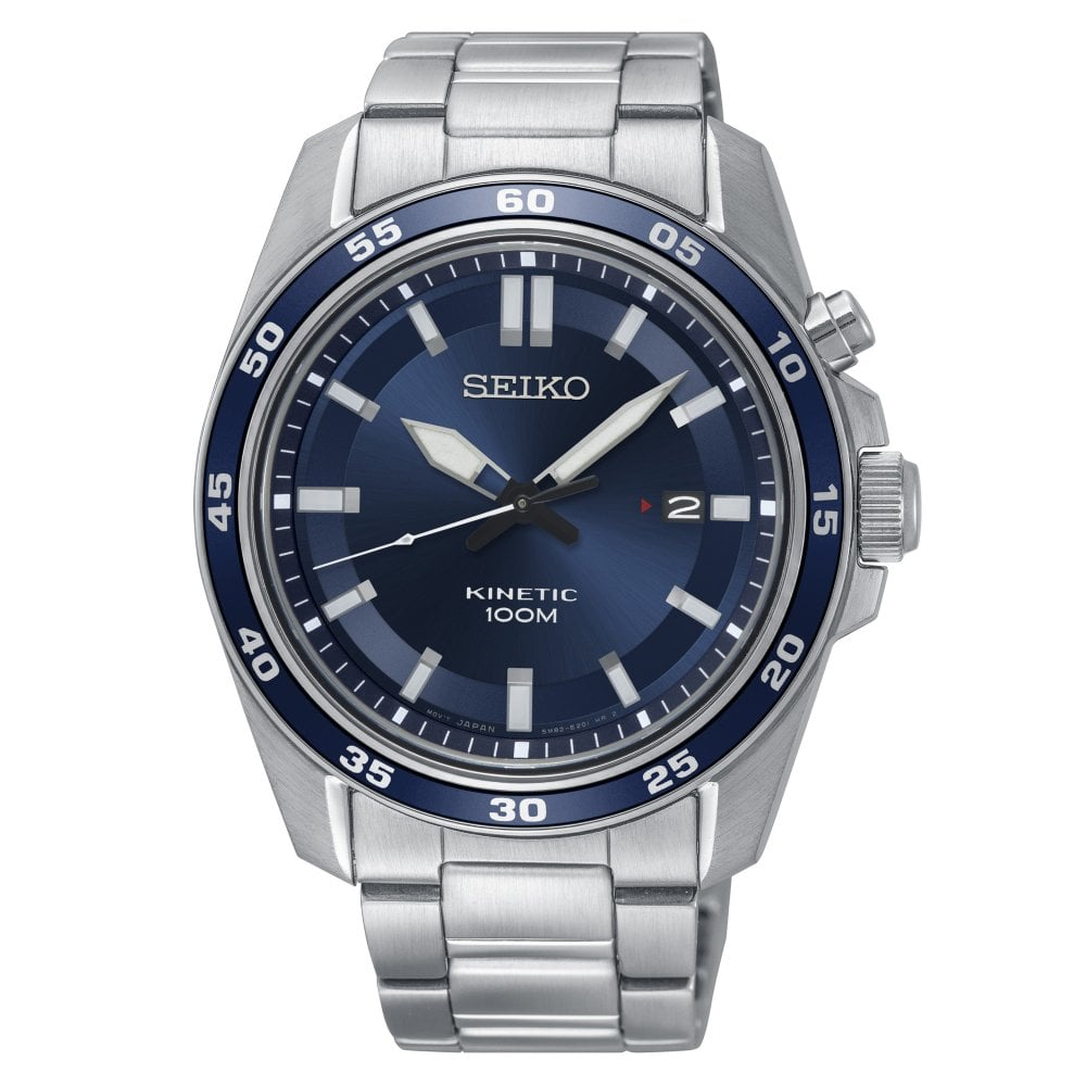Seiko Ska783p1 Gents Kinetic Stainless Steel Watch Available At Tic