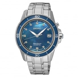 SKA873P1 Sportura Blue Mother of Pearl & Silver Stainless Steel Kinetic Ladies Watch