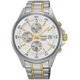Seiko SKS479P1 Silver & Gold Chronograph Men's Watch