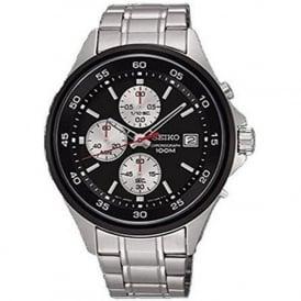 Seiko SKS483P1 Black & Silver Men's Chronograph Watch