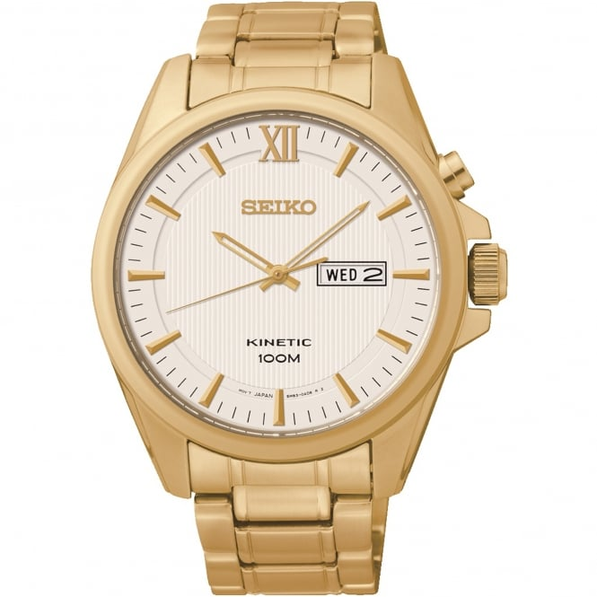 Seiko SMY158P1 Gold Stainless Steel Kinetic Men's Watch