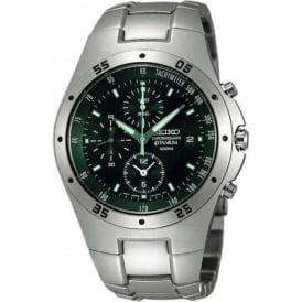 Seiko SND419P1 Titanium Black & Silver Chronograph Men's Watch