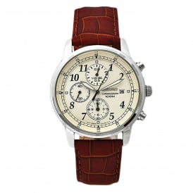 SNDC31P1 Cream & Brown Textured Leather Men's Watch