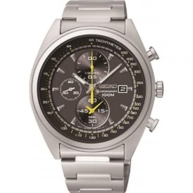 Seiko SNDF85P1 Black & Grey Gents Chronograph Watch