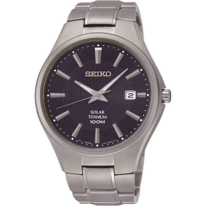 Seiko SNE381 Gents Titanium Solar Watch