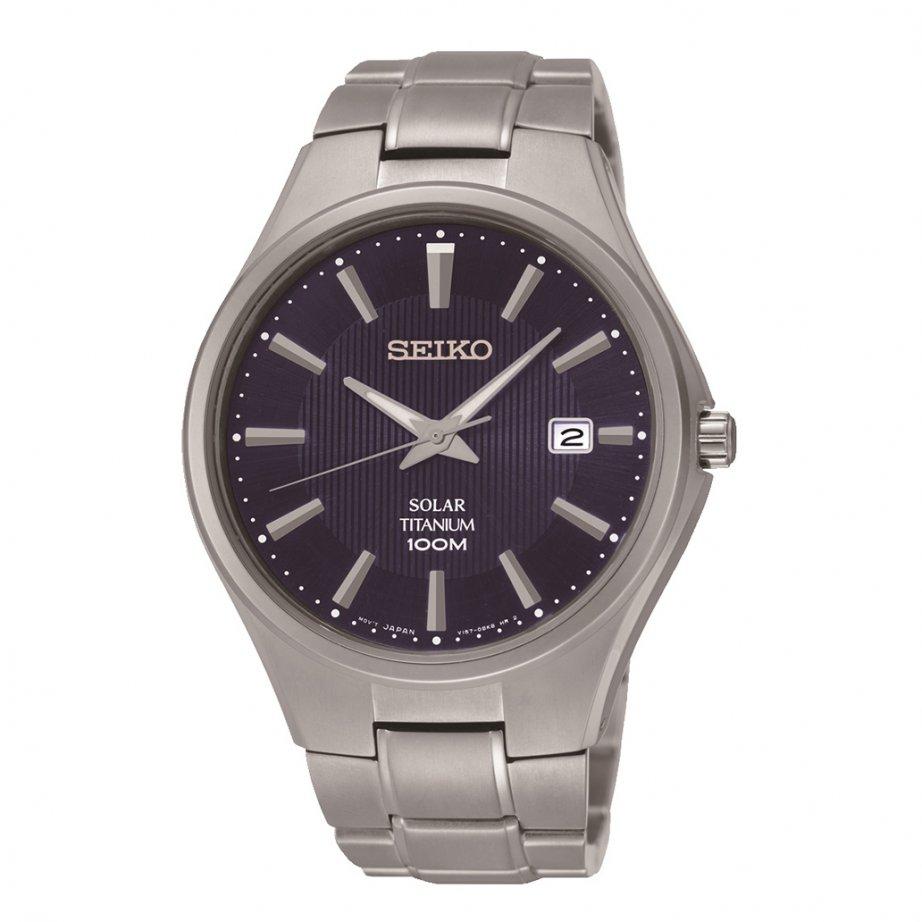 Seiko sne381 gents titanium solar watch seiko solar tic watches seiko on sale for Seiko solar