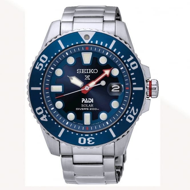 Seiko SNE435P1 Men's Stainless Steel Prospex Divers Padi Special Edition Solar Watch