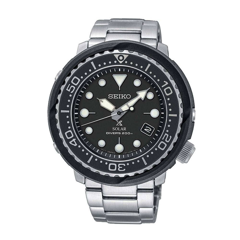 fc760d1a9 SNE497P1 Prospex Black   Silver Stainless Steel Automatic Diver s Men s  Watch