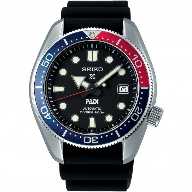 the latest 58fb0 6a823 SPB087J1 Prospex Padi Silver & Black Silicone Automatic Diver's Men's Watch