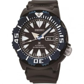 Seiko SRP581K1 Black & Blue Gents Automatic Prospex Divers Watch - EX DISPLAY