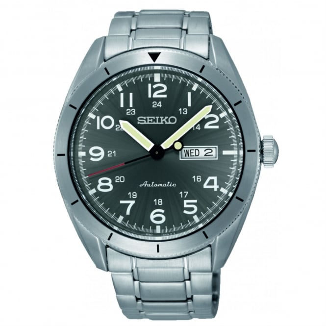 Seiko SRP709K1 Grey Dial & Silver Stainless Steel Automatic Men's Watch