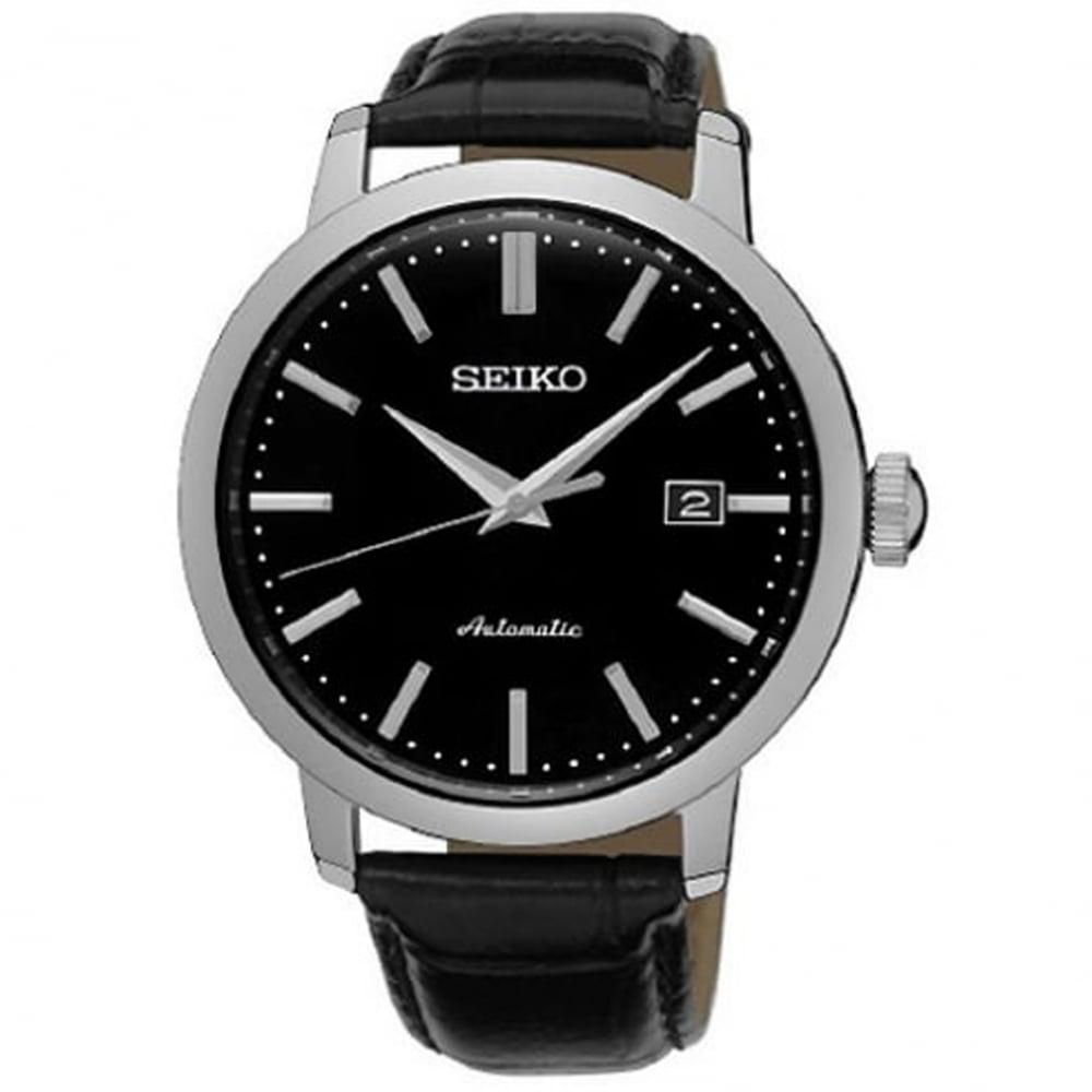 tic watches seiko srpa27k1 textured black calf leather automatic seiko srpa27k1 textured black calf leather automatic men s watch