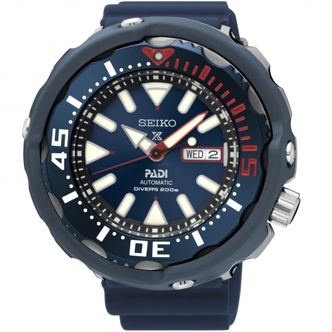Seiko SRPA83K1 Prospex Padi Blue Ceramic & Stainless Steel Silicone Men's Divers Watch