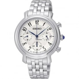 Seiko SRW875P1 Cream & Stainless Steel Ladies Chronograph Watch