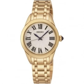 Seiko SRZ384P1 Ladies Gold Quartz Watch