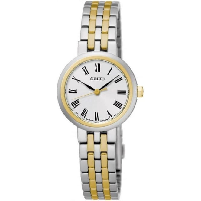 Seiko SRZ462P1 Gold & Silver Stainless Steel Ladies Watch
