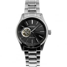 Seiko SSA083J1 Black & Stainless Steel Men's Automatic Watch