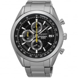 SSB279P1 Black & Silver Stainless Steel Chronograph Men's Watch