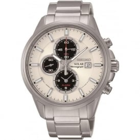 Seiko SSC251P1 Gents Silver Chronograph Solar Watch