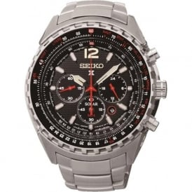 Seiko SSC261P1 Black & Red Stainless Steel Gents Prospex Watch