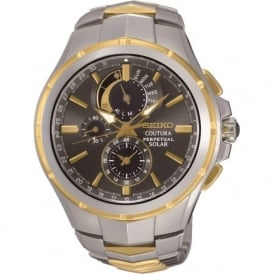 SSC376 Coutura Solar Gold & Stainless Steel Gent's Watch