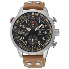 SSC421P1 Prospex Brown Leather Solar Men's Chronograph Watch