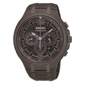 Seiko SSC453P9 Grey ION-Plated Stainless Steel Solar Chronograph Men's Watch