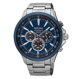 Seiko SSC495P1 Blue Dial Stainless Steel Men's Solar Watch