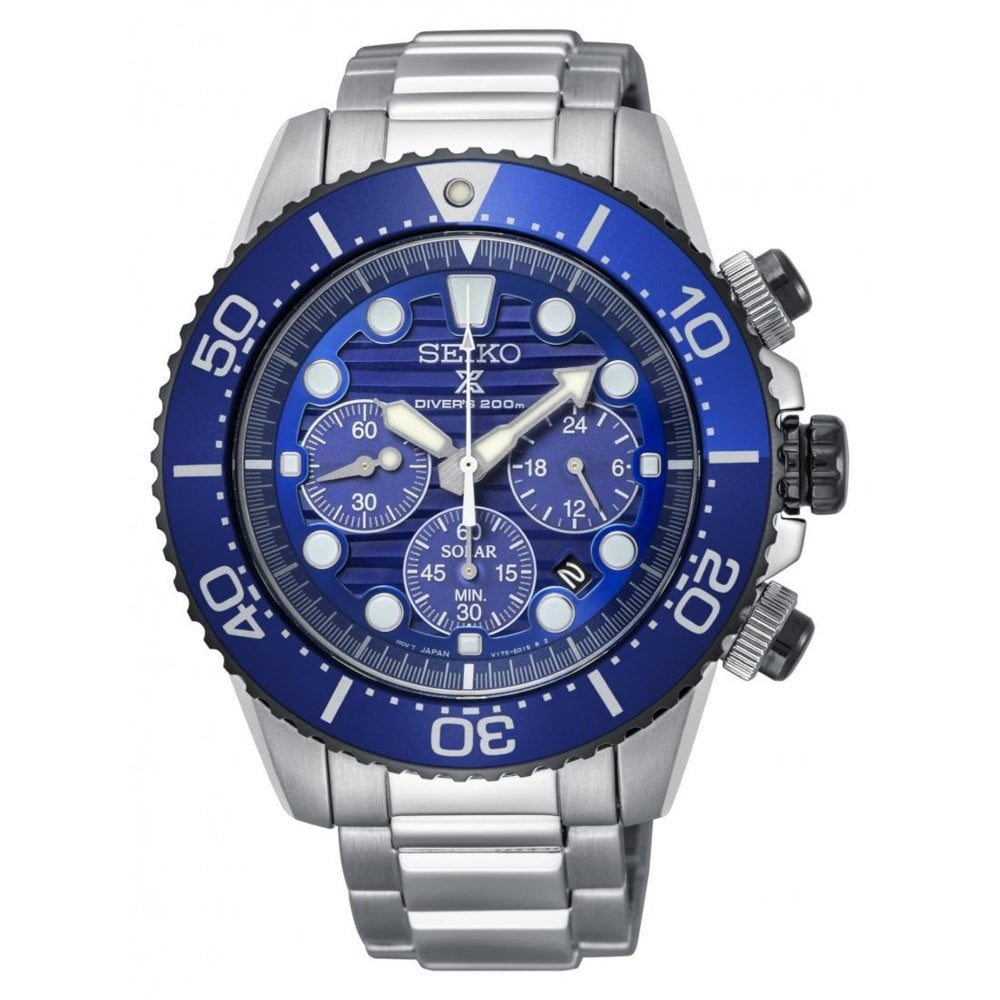 af4303f4f SSC675P1 Men s Stainless Steel Prospex Save the Ocean Divers Solar Watch
