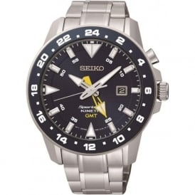 Seiko SUN017P1 Stainless Steel Kinetic Sportura Gents Watch