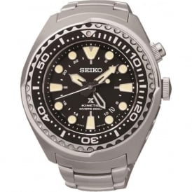 Seiko SUN019P1 Prospex Black & Silver Divers Gents Watch