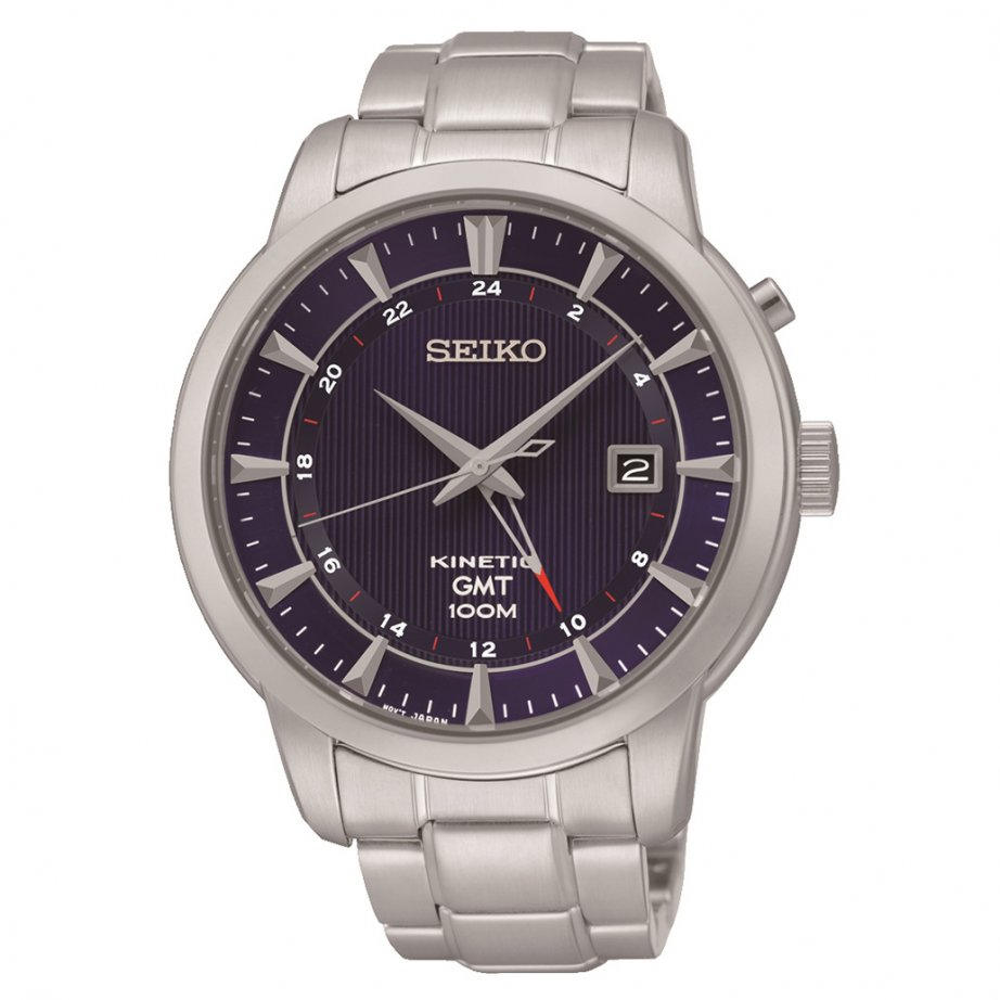 Sun031p1 seiko kinetic stainless steel gents watch sale at tic watches for Seiko kinetic watches