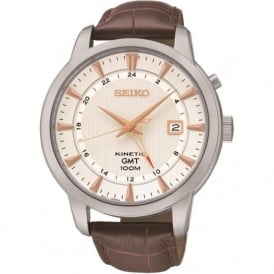 Seiko SUN035P1 Kinetic Brown Leather Gents Watch